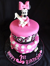 Minnie Mouse Baby Shower Cake Girl