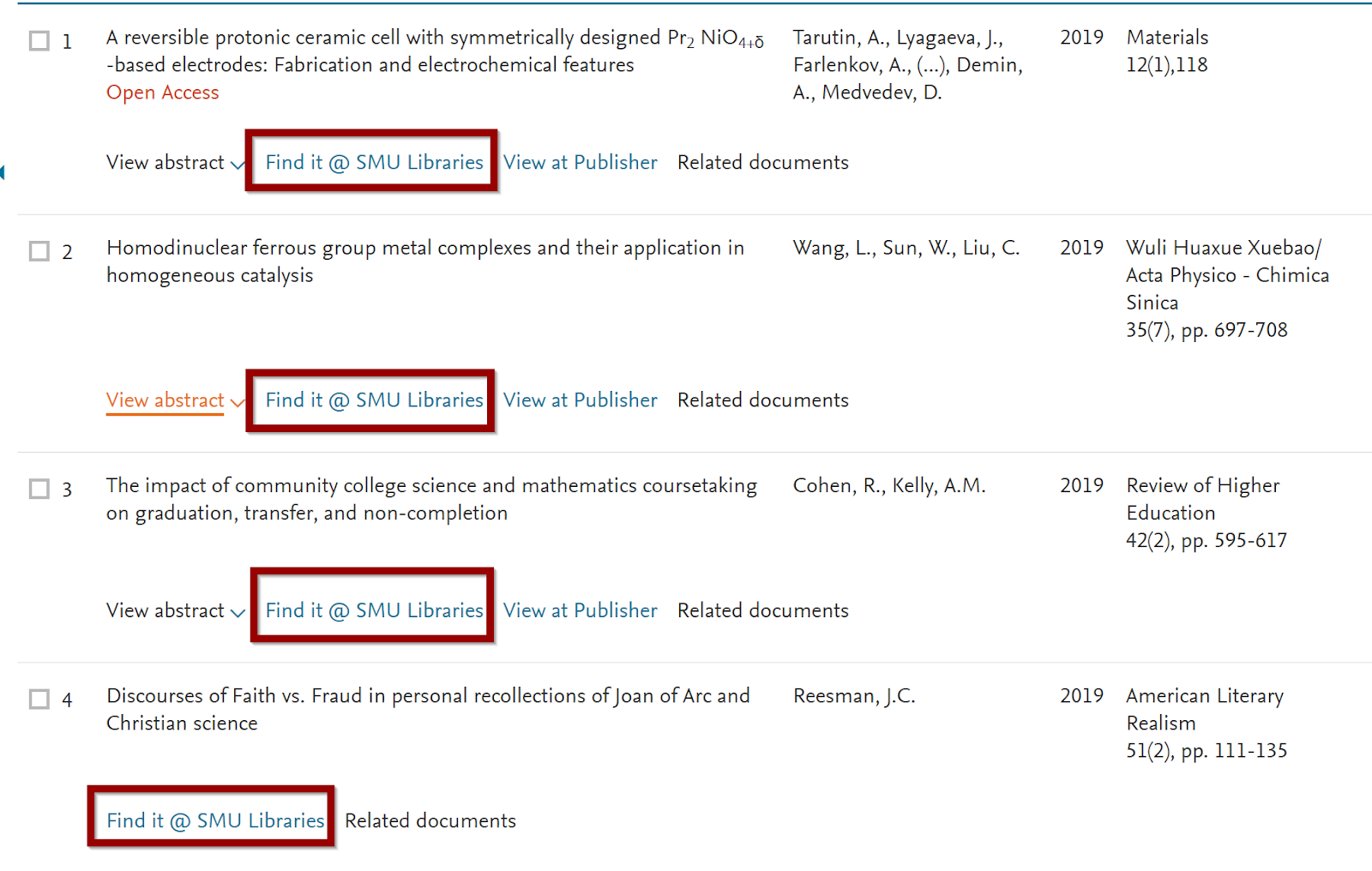 Linking to freely available articles - how various databases and