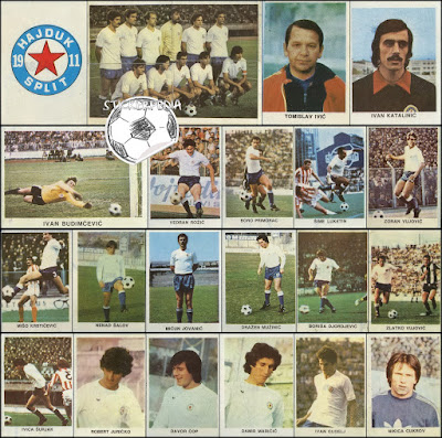 Hajduk Split album sličice Fudbaleri i Timovi 1979/80