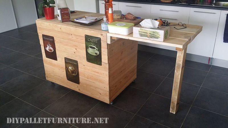 Mueblesdepalets.net: mueble de cocina auxiliar hecho con palets