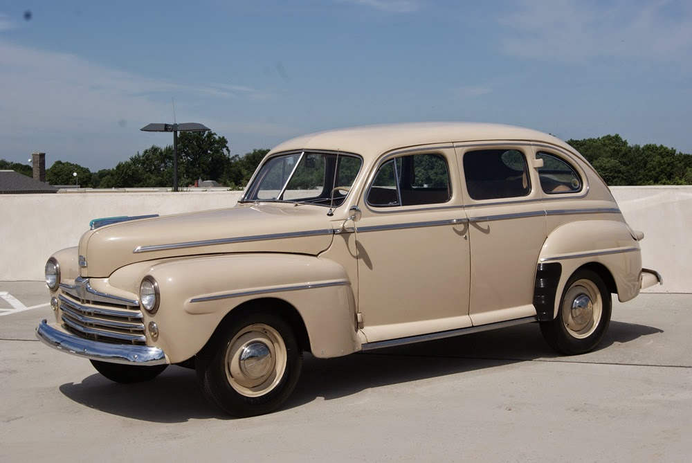 all american classic cars 1947 ford super deluxe fordor 4. Black Bedroom Furniture Sets. Home Design Ideas