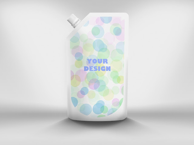mock up Liquid Bag Packaging