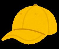 野球帽のイラスト(黄色)