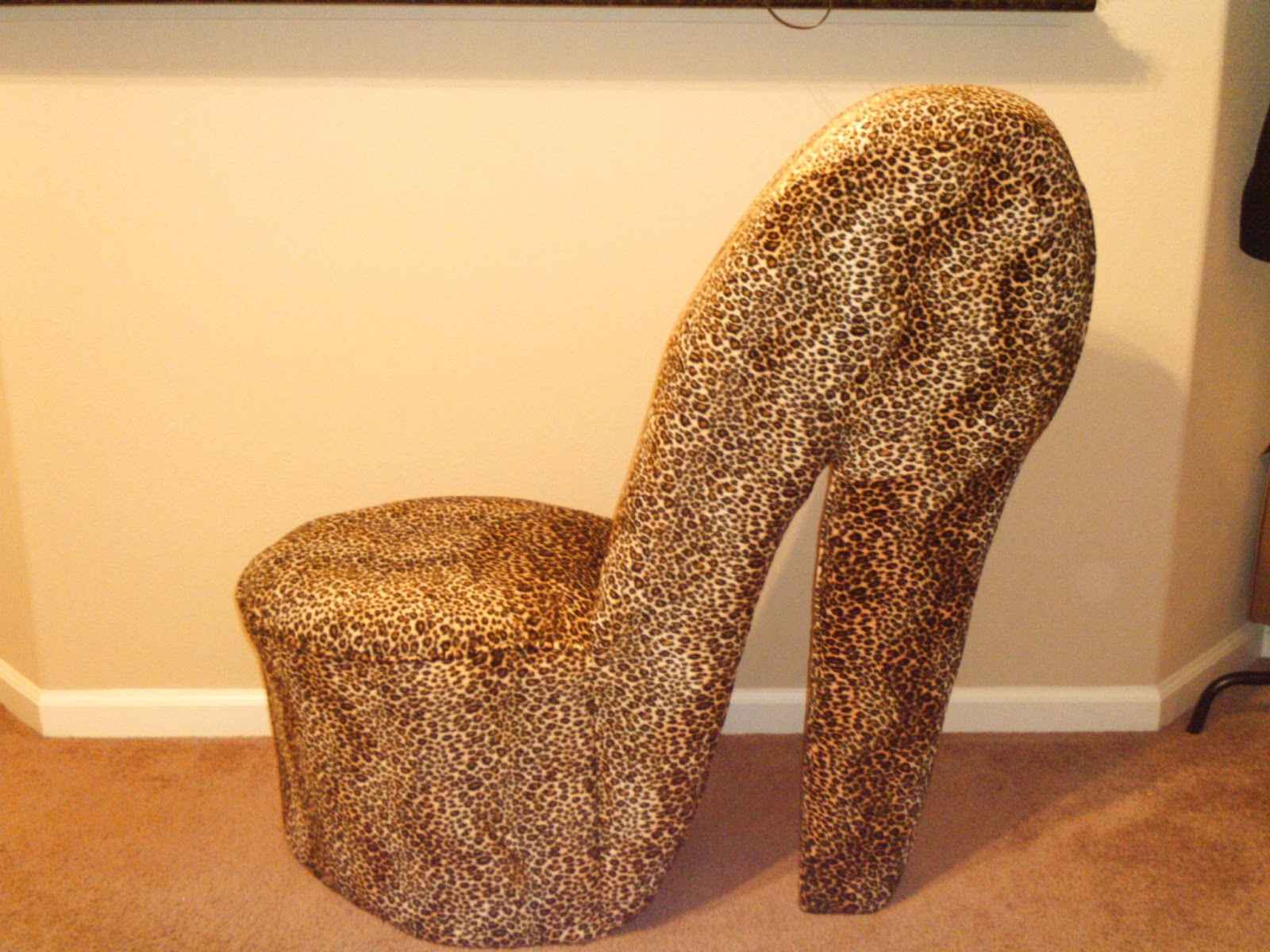 leopard high heel chair office casters bows and haul ootd