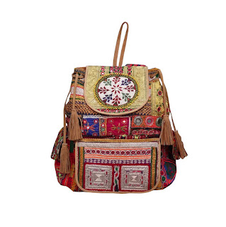 Vintage Banjara Backpack Gypsy Hand Embroidered Bag
