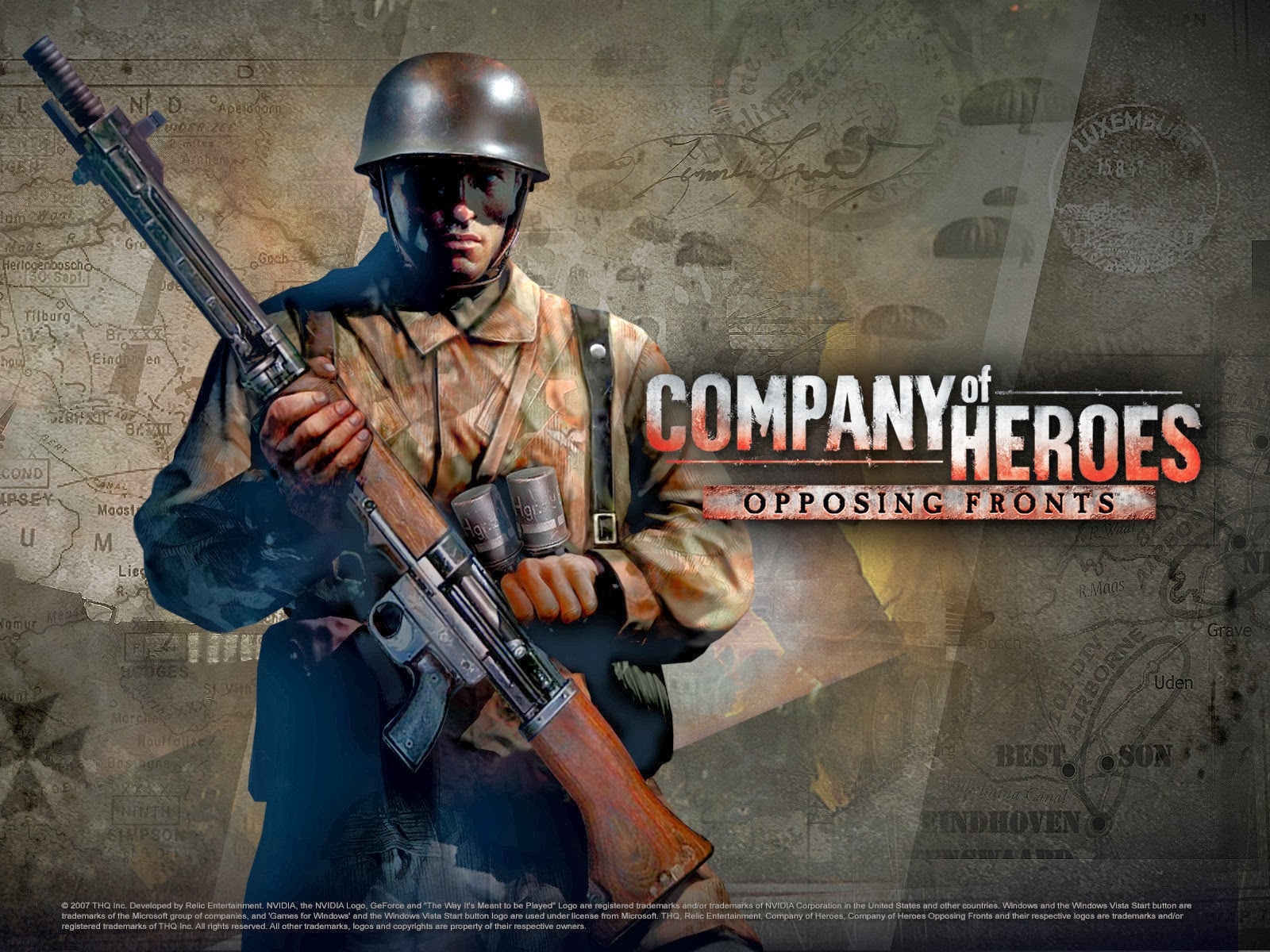 Company of Heroes Opposing - Fronts .sga Skirmish map ... on