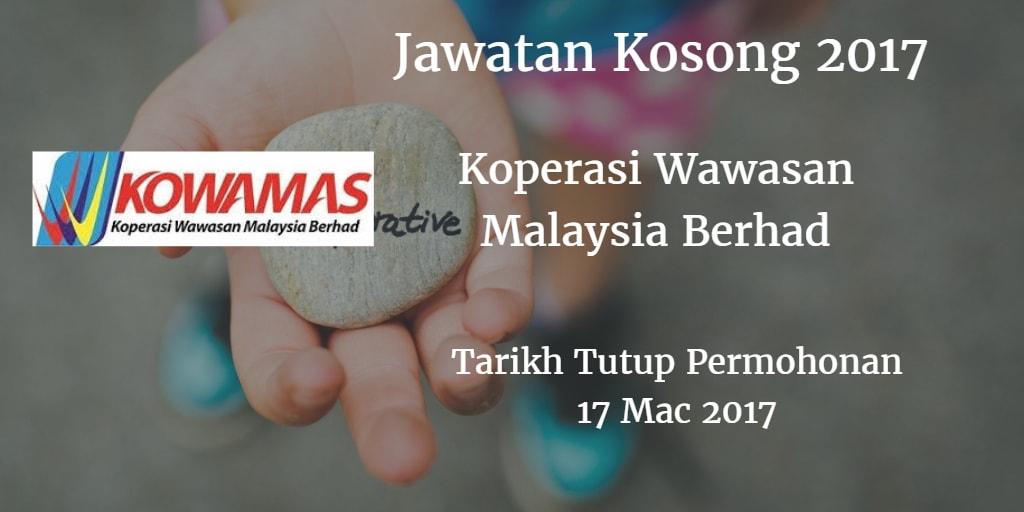Jawatan Kosong KOWAMAS 17 Mac 2017