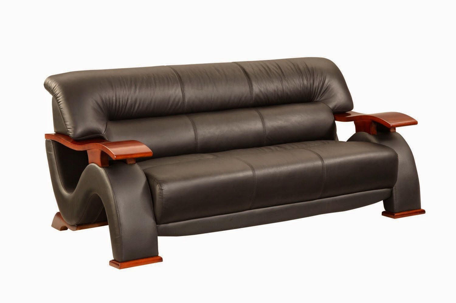 Small Es Configurable Sectional Sofa Black Milano Leather