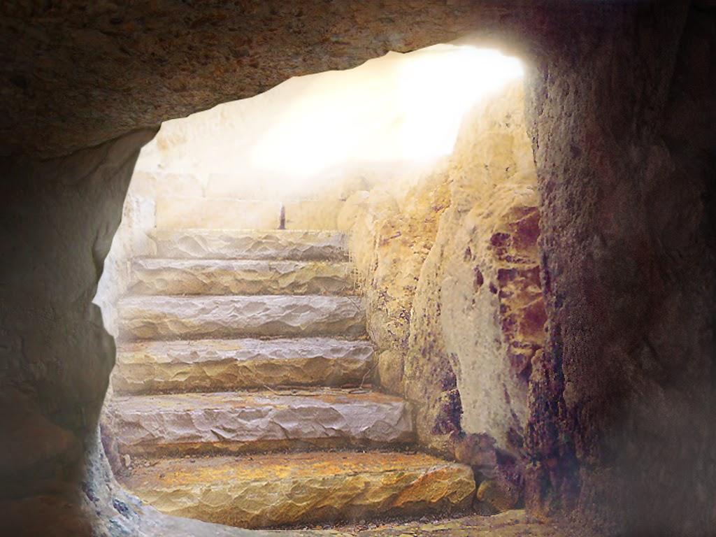 Empty Christ And Tomb Cross