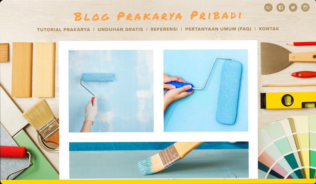 menggunakan blogspot