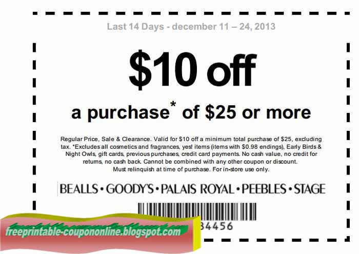 photograph relating to Peebles Printable Coupons identified as Bealls com discount codes