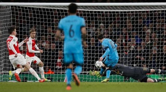 Messi Borong Gol, Barcelona Bungkam Arsenal