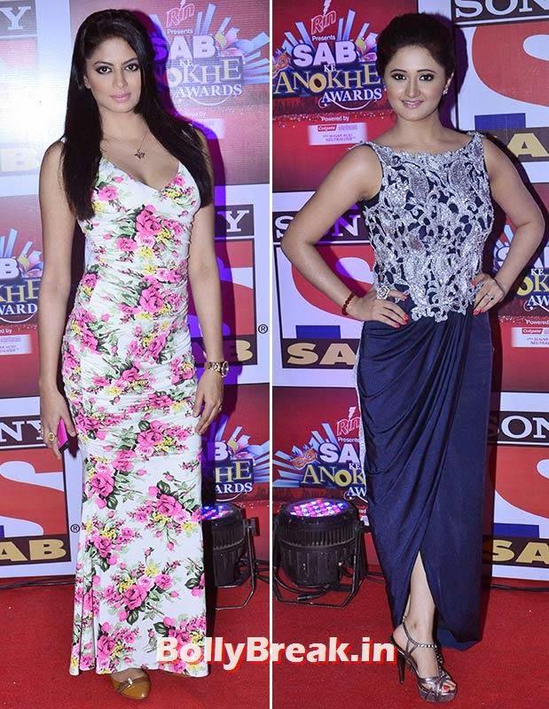 Kavita Kaushik and Rashmi Desai, SAB Ke Anokhe Awards Photo Gallery