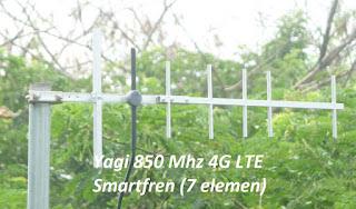 Antena Yagi 7 Element Penguat Sinyal Modem Mifi Smartfren M2Y M2S M3Y M3Z