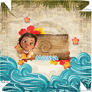 Moana Baby Free Printable Box. Part 1