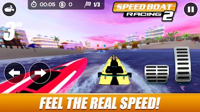 لعبة speed boat racing مهكرة للأندرويد، لعبة speed boat racing كاملة للأندرويد