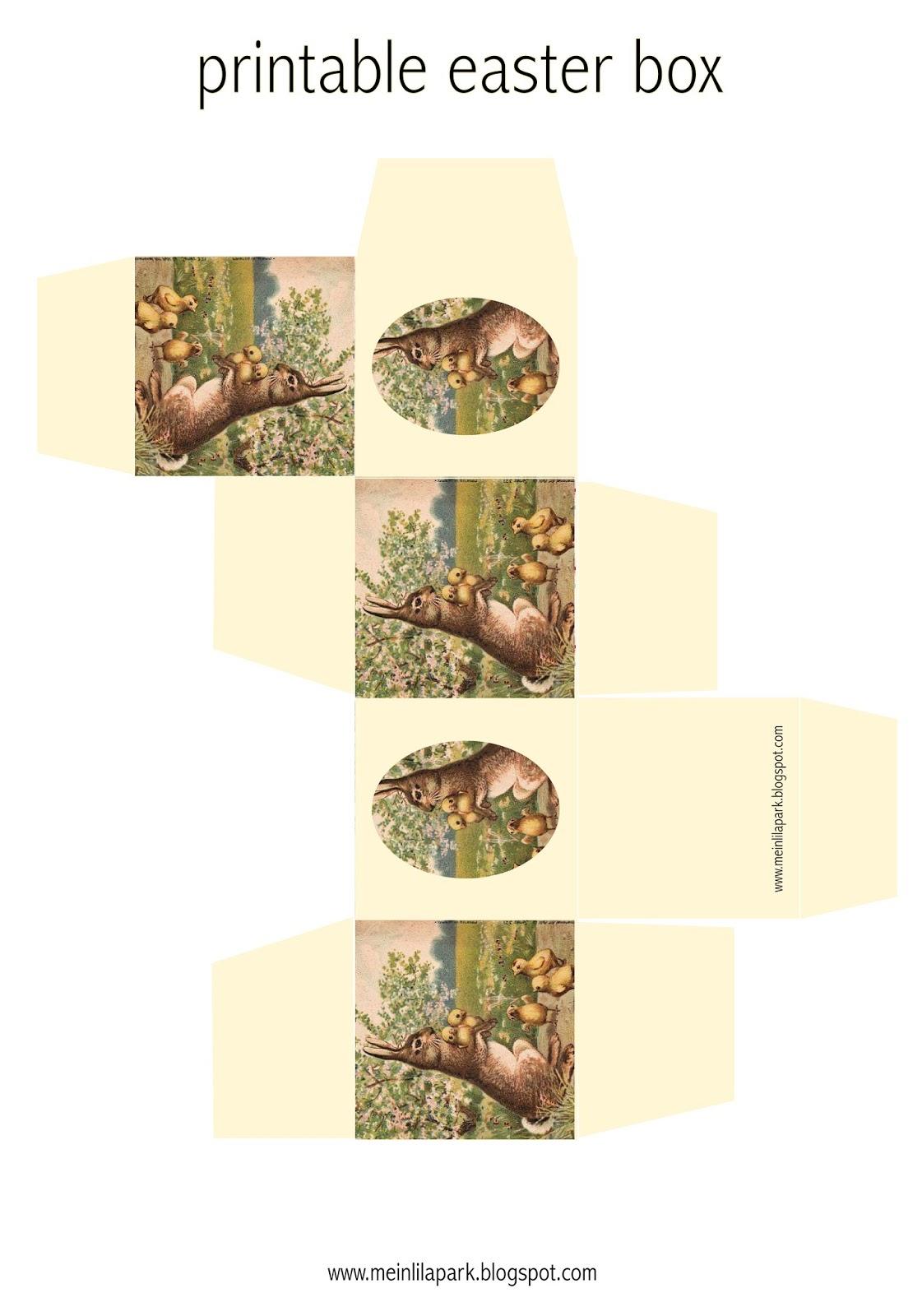 10 Free Printable Easter Box And Diy Templates