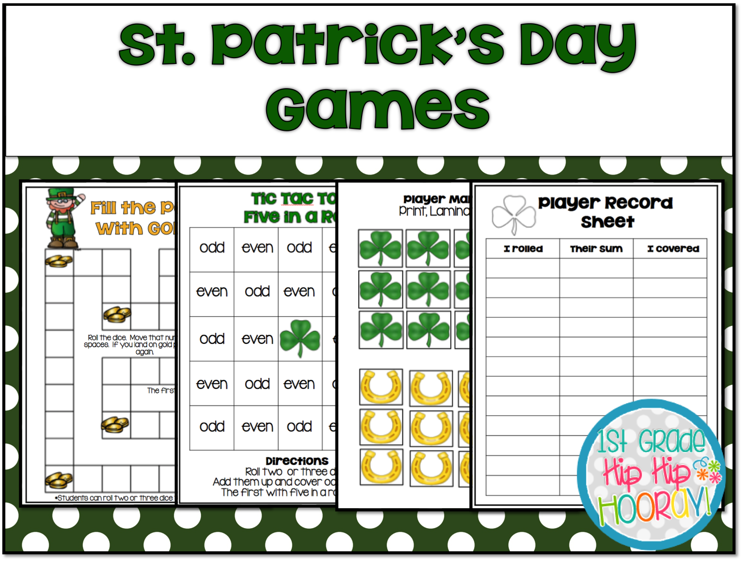 1st Grade Hip Hip Hooray Free St Patrick S Day Games