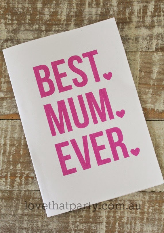 Free Printable Best Mum/Mom Ever Mother's Day Card by Love That Party. www.lovethatparty.com.au