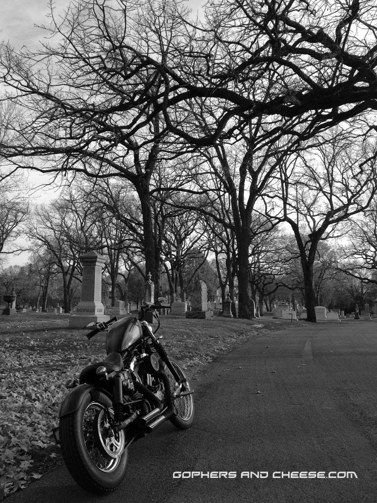 Lakewood Cemetery - Black and White