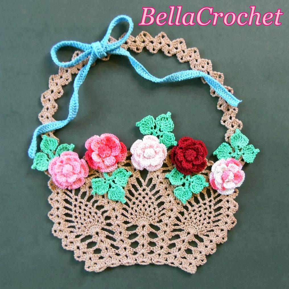 BellaCrochet: Flower Basket of Roses; A Free Crochet ...