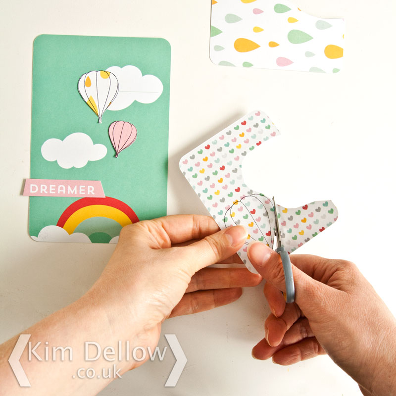 Making a hot air balloon card