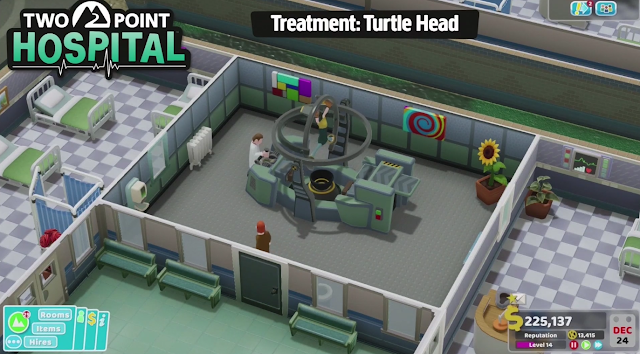 PC Gaming Show 2018 turtle head disease treatment Two Point Hospital