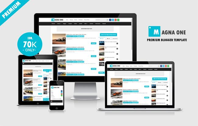 Magna One Premium Responsive Blogger Template