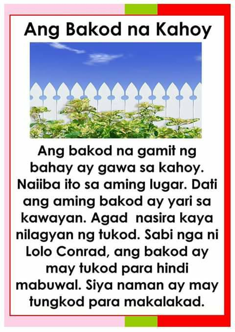Teacher Fun Files: Tagalog Reading Passages 5