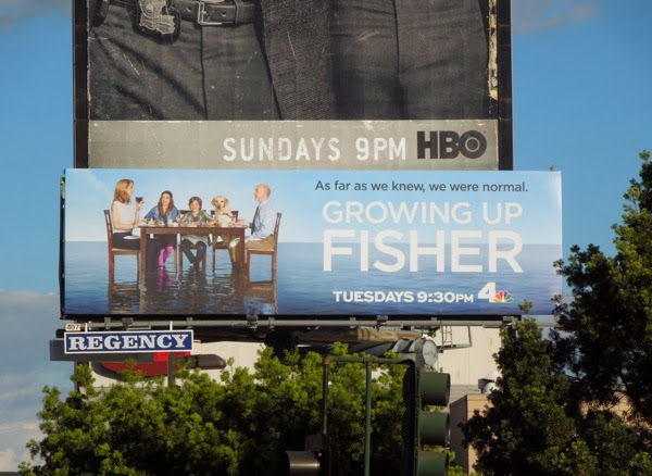 Growing Up Fisher series launch billboard