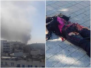 Suicide bomb scene, Tunisia