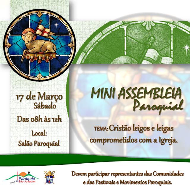LOCAL: Paróquia de São Joaquim irá realizar Mini Assembleia em Março