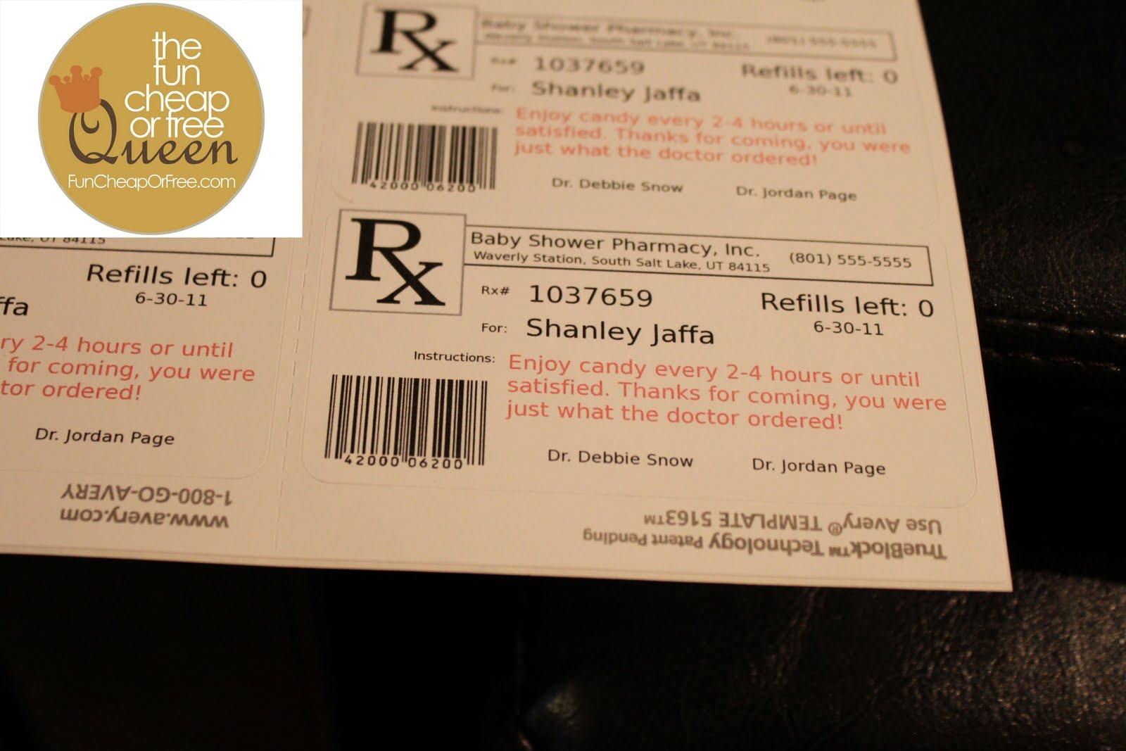 fake prescription label maker