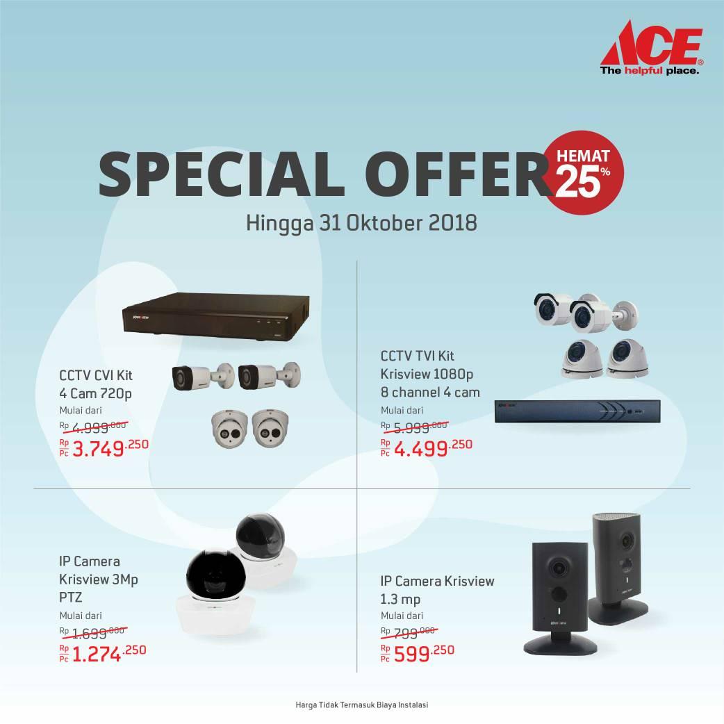 AceHardware - Promo Special Offer CCTV Hemat s.d 25% (s.d 31 Okt 2018)