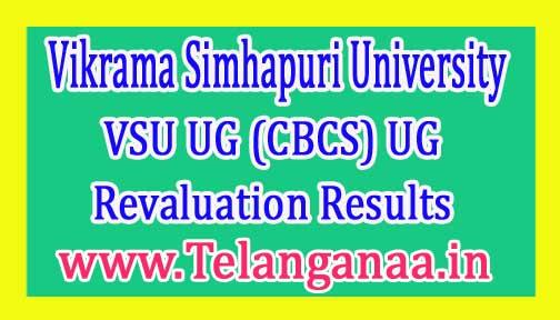 Vikrama Simhapuri University VSU UG (CBCS) UG IInd Sem Revaluation Results 2017