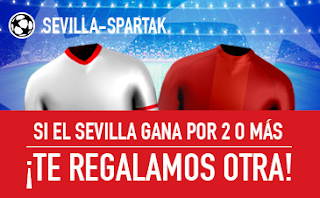 sportium promocion champions Sevilla vs Spartak 1 noviembre