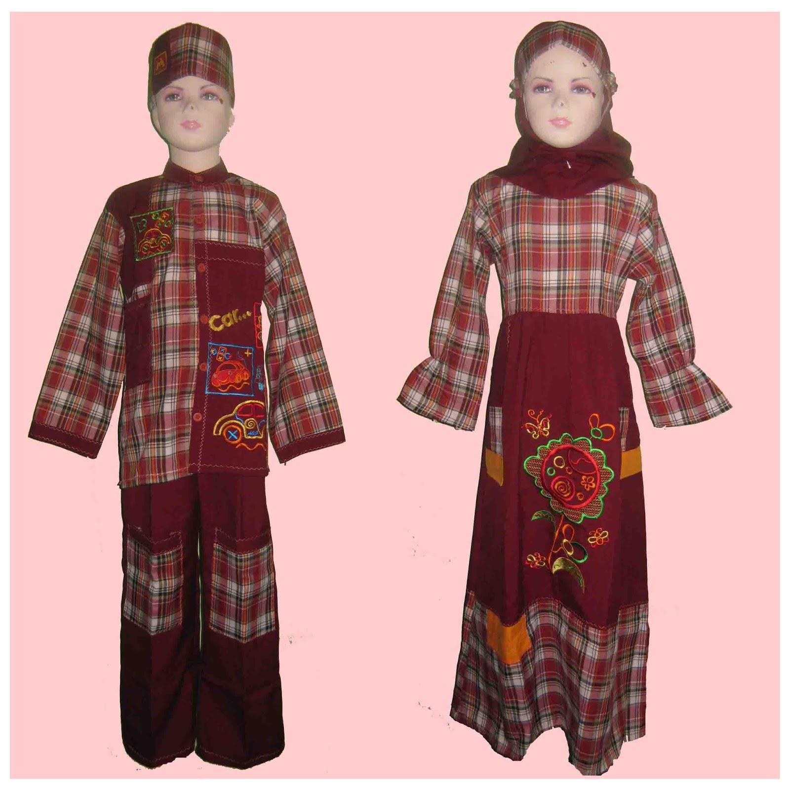 Seragam Baju Muslim Seragam Baju Muslim Model Gamis Dan Koko Motif