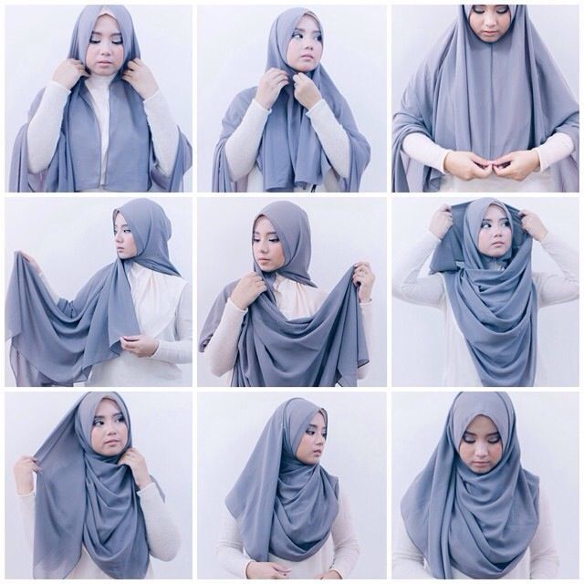 Tutorial Hijab Segi Empat Untuk Remaja Muslimah