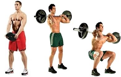 Beneficios sentadilla pesas hombres