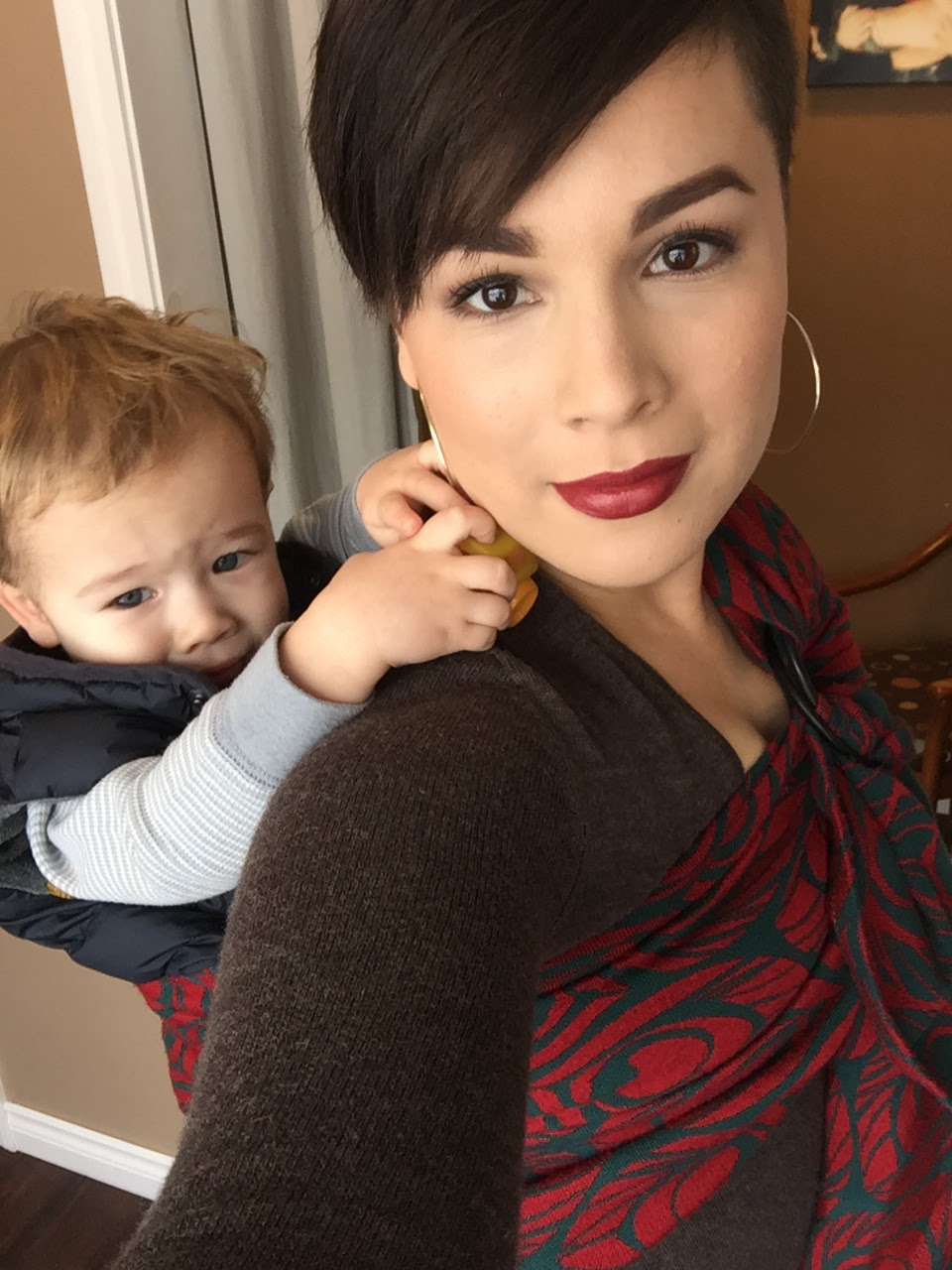 tutorial: ring sling back carry | twice loved and modern
