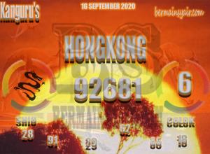 Kode syair Hongkong Rabu 16 September 2020 169