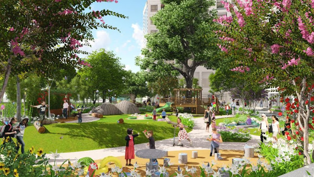 Cảnh quan xanh Louis City Tân Mai