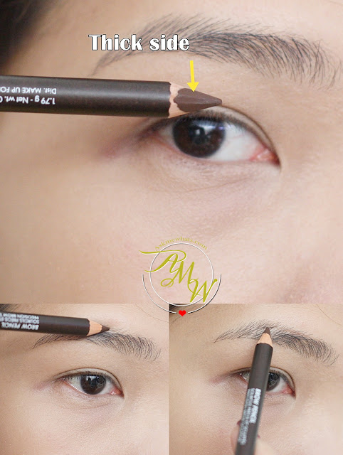 a photo on How To Use Make Up For Ever's Brow Liner, Brow Gel + Brow Pencil