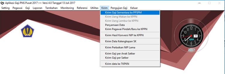 Cara Cetak Gaji Induk Pada Aplikasi GPP