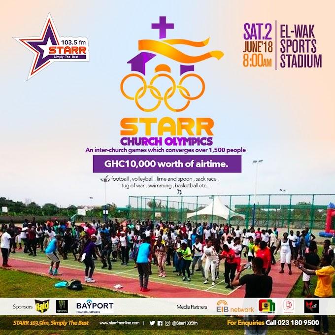 2018 Starr FM Church Olympics comes off Saturday June 2