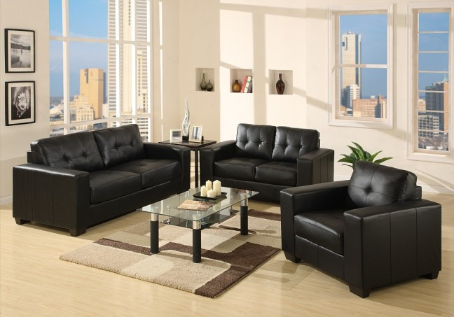 black leather living room furniture sets canada