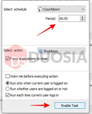 mematikan laptop otomatis dengan aplikasi