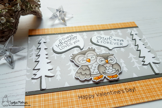 Masculine Valentine with Owls by Zsofia Molnar | Love Owl-ways Stamp Set and Forest Scene Builder Die Set by Newton's Nook Designs #newtonsnook #handmade