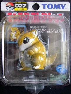 Sandslash Pokemon figure Tomy Monster Collection black package series