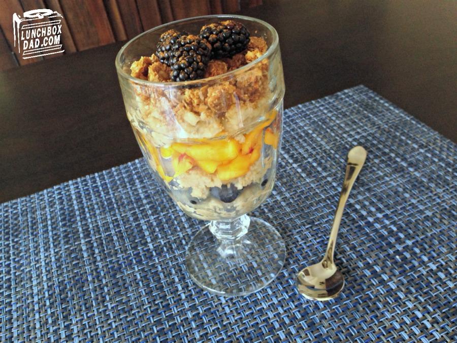 A Fun and Fruity Oatmeal Breakfast Parfait #QuakerUp #ad